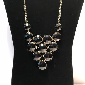 Black Jeweled Statement Necklace
